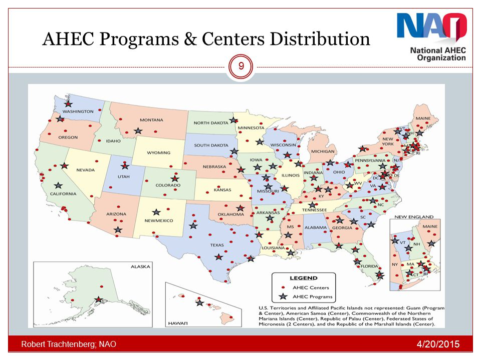 AHEC Programs & Centers Distribution
