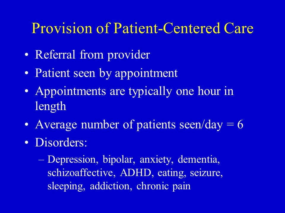 Provision of Patient-Centered Care