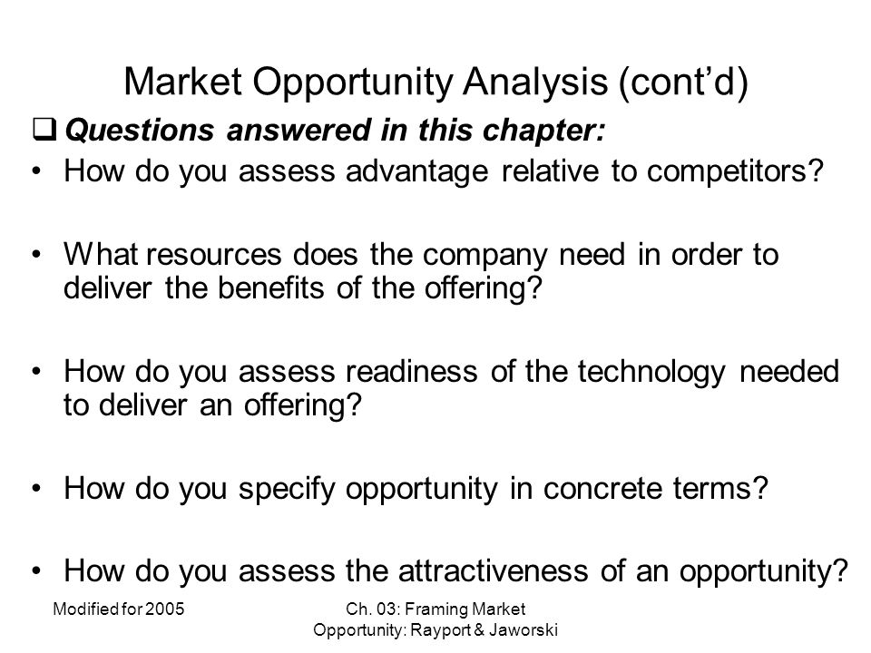Ch.03 Market Opportunity Analysis - ppt video online download