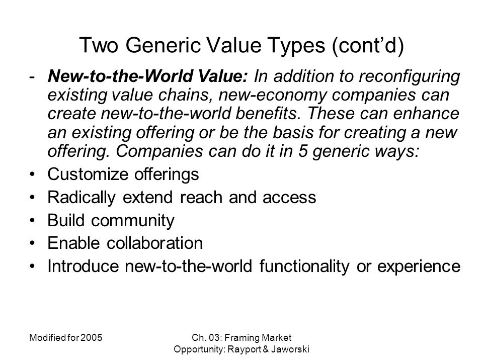 Two Generic Value Types (cont'd)