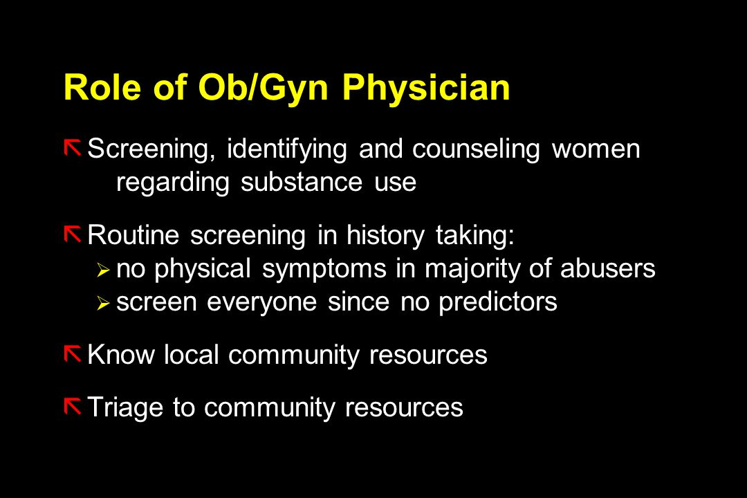 Role of Ob/Gyn Physician