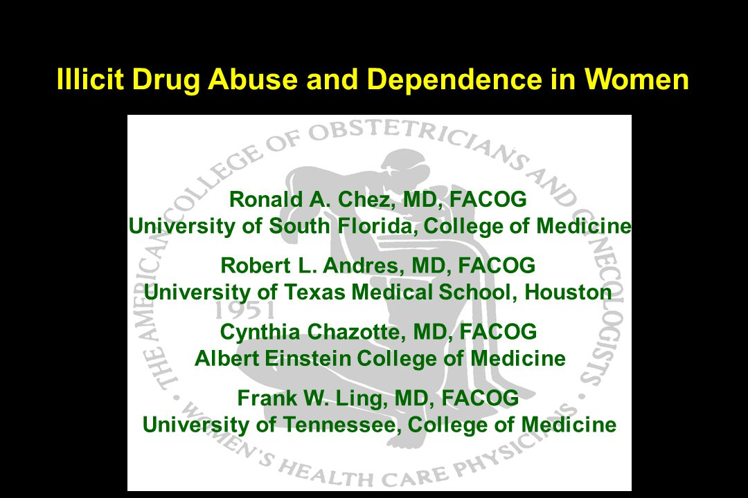 Illicit Drug Abuse and Dependence in Women