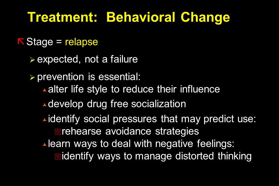Treatment: Behavioral Change
