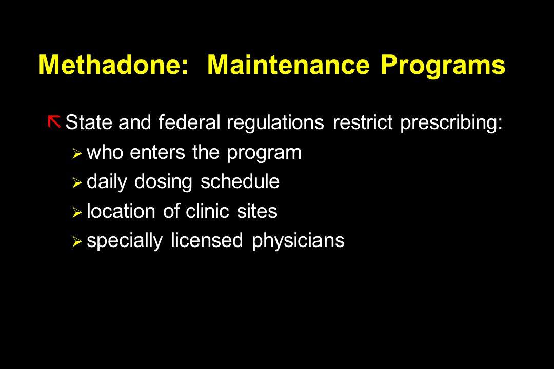 Methadone: Maintenance Programs