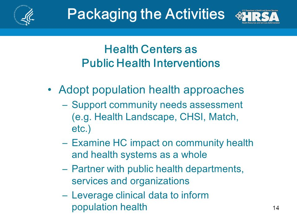 Health Centers as Public Health Interventions