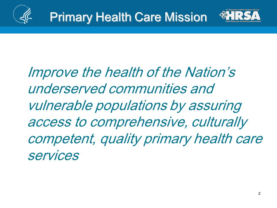 Primary Health Care Mission