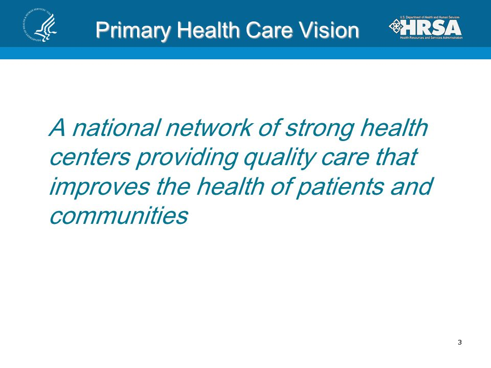 Primary Health Care Vision