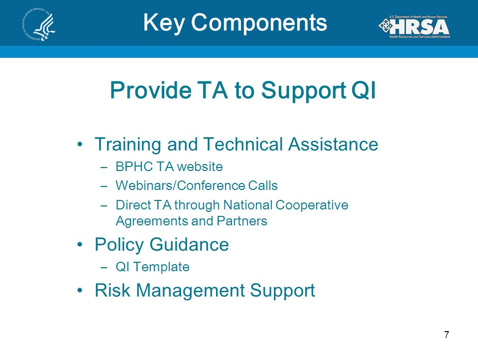 Provide TA to Support QI