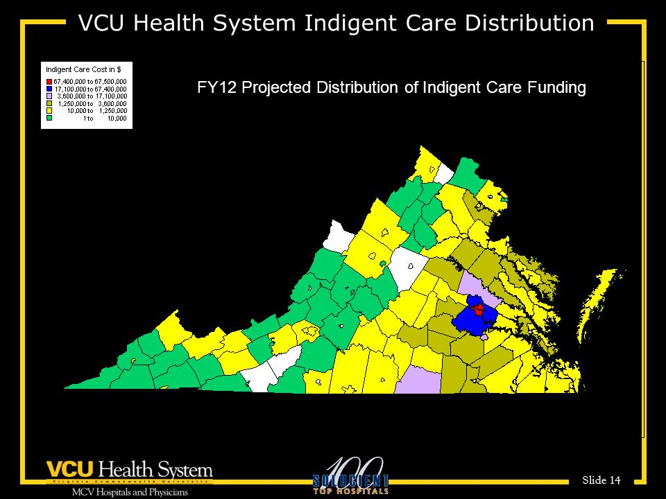 VCU Health System Indigent Care Distribution