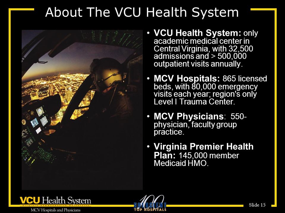 About The VCU Health System