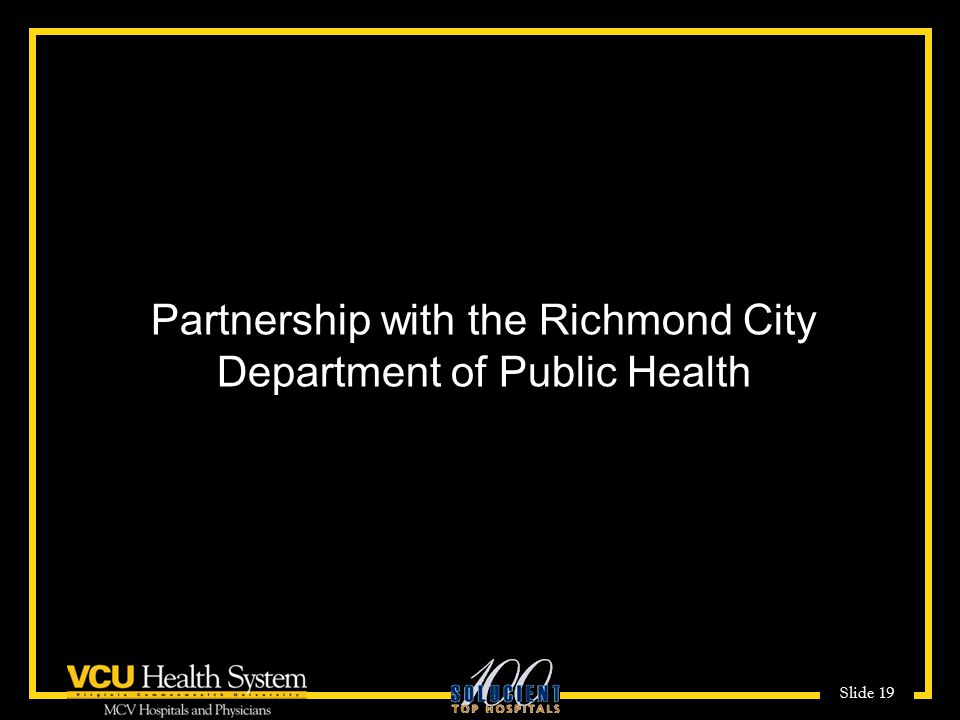 Partnership with the Richmond City Department of Public Health