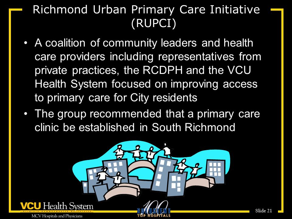 Richmond Urban Primary Care Initiative (RUPCI)