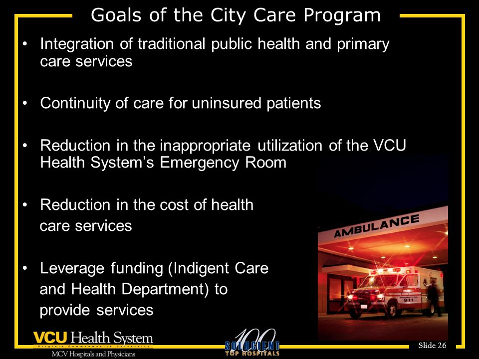 Goals of the City Care Program