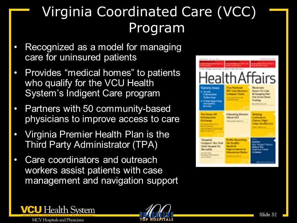 Virginia Coordinated Care (VCC) Program