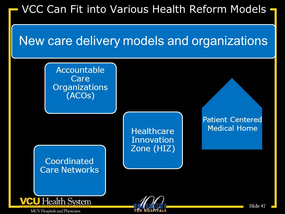 VCC Can Fit into Various Health Reform Models