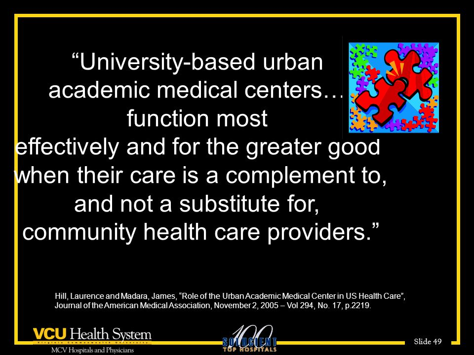 University-based urban academic medical centers…. function most