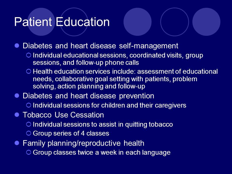 Patient Education Diabetes and heart disease self-management