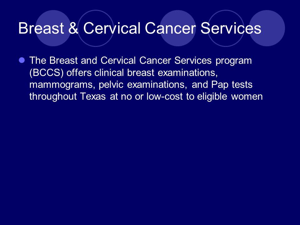 Breast & Cervical Cancer Services