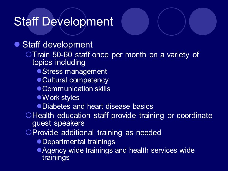 Staff Development Staff development