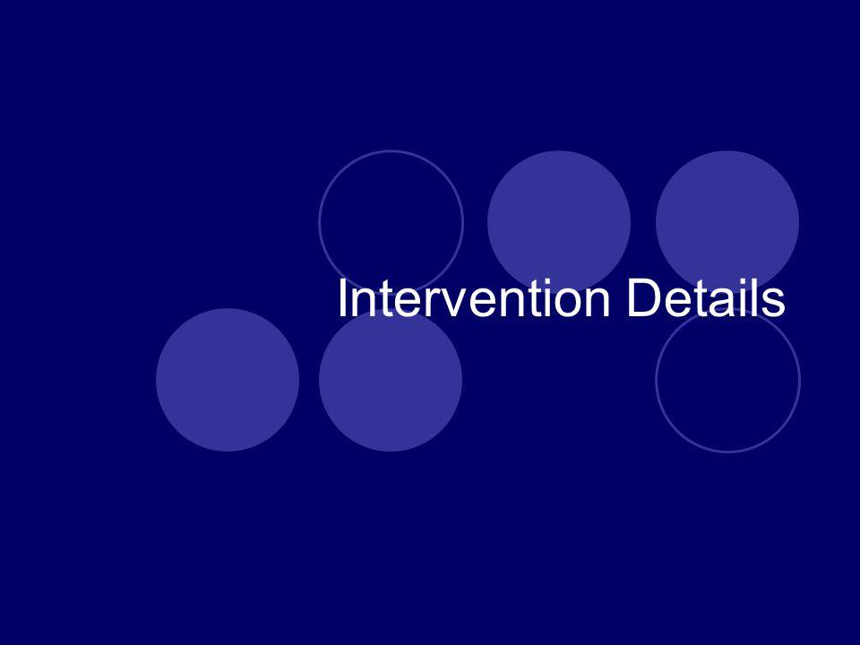 Intervention Details