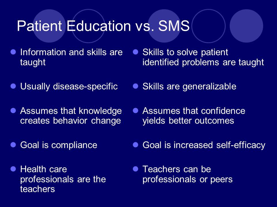 Patient Education vs. SMS