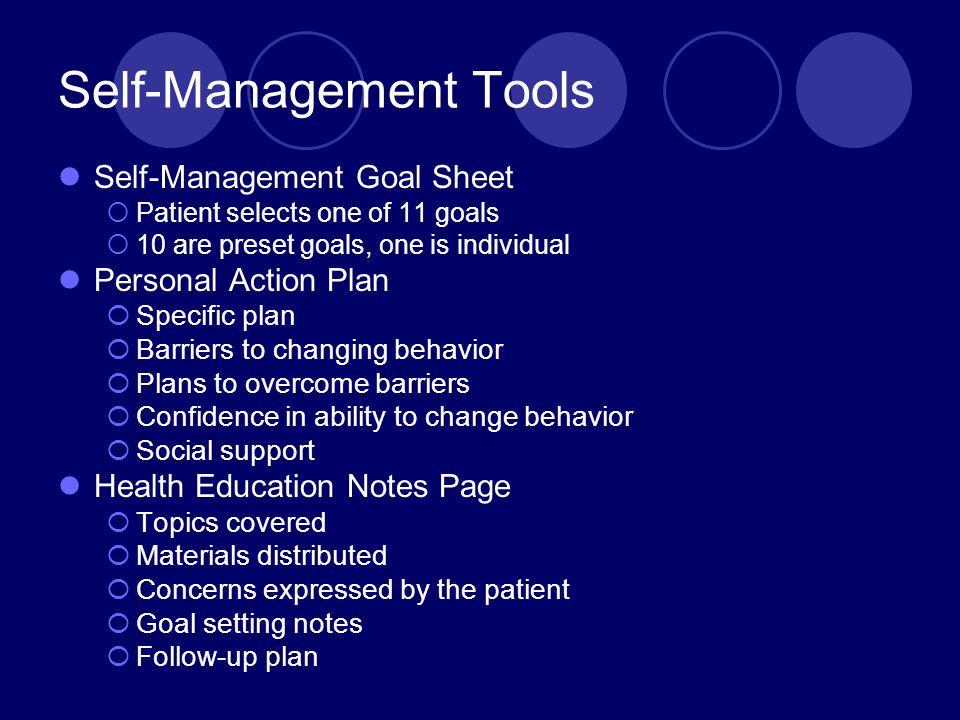 Self-Management Tools