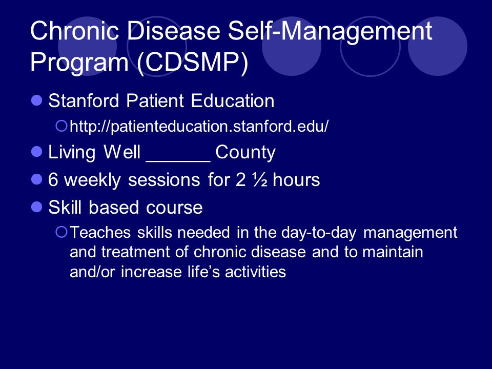 Chronic Disease Self-Management Program (CDSMP)