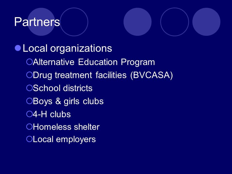 Partners Local organizations Alternative Education Program