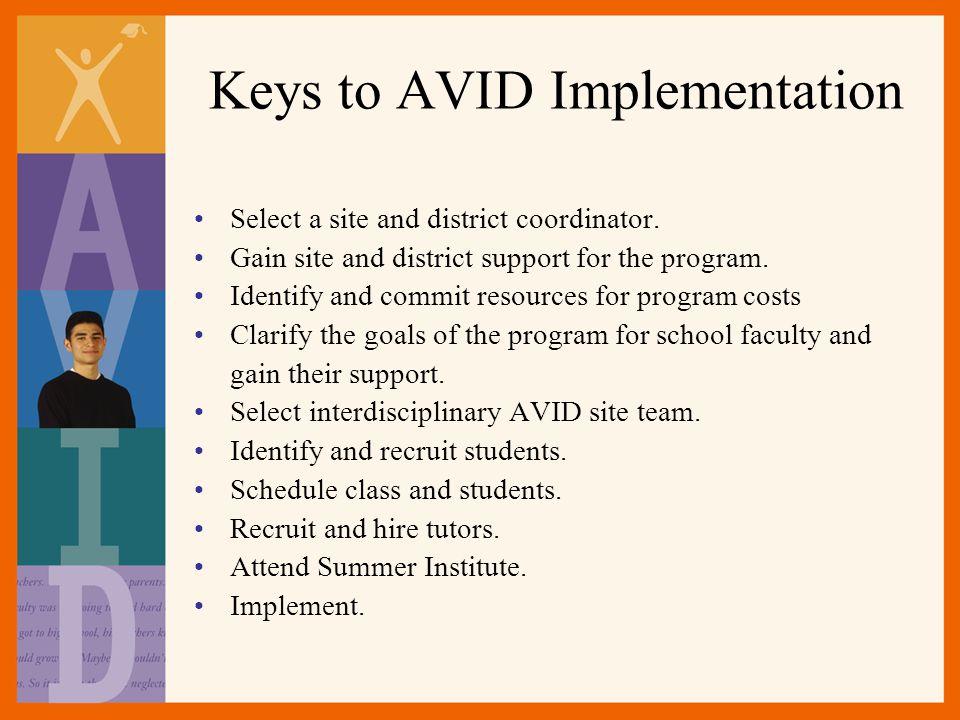Keys to AVID Implementation