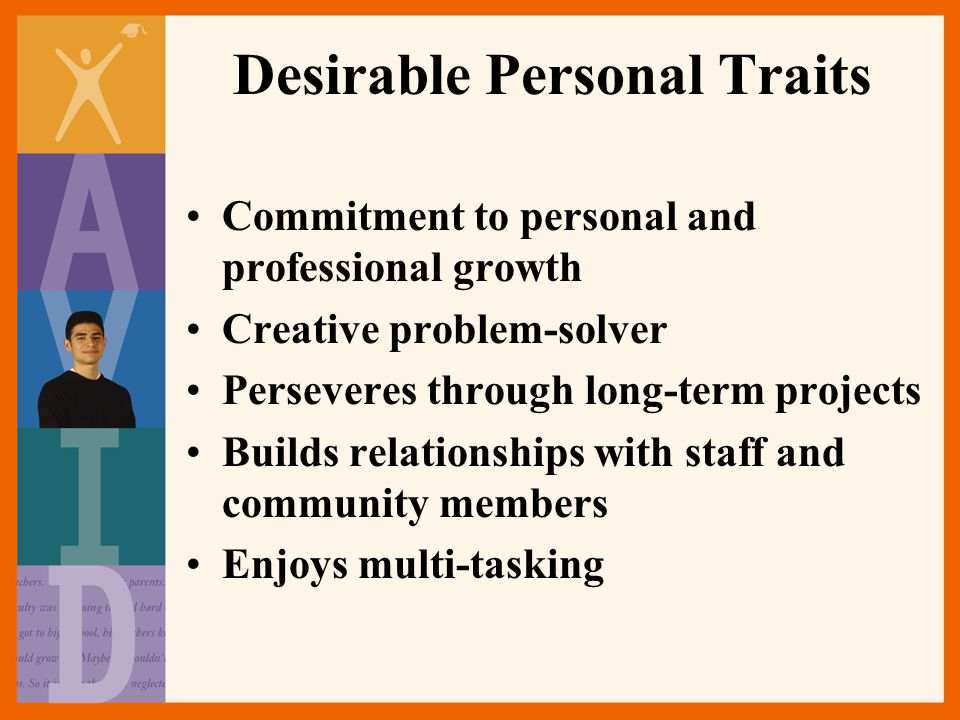 Desirable Personal Traits