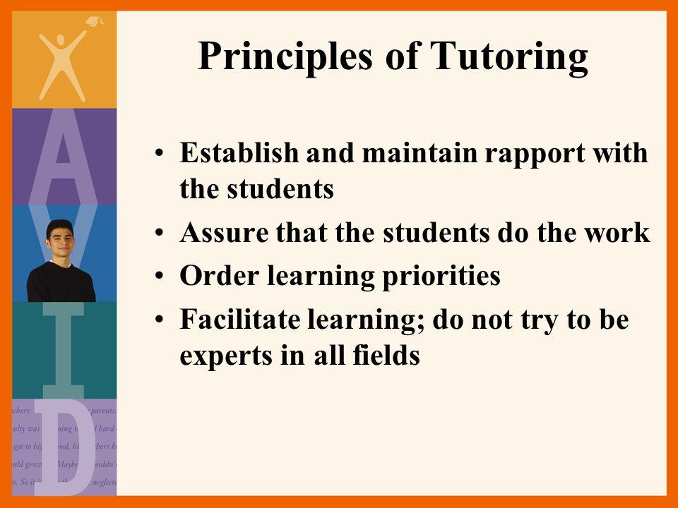 Principles of Tutoring