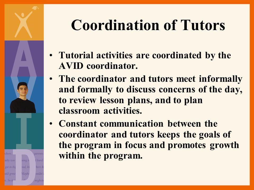 Coordination of Tutors