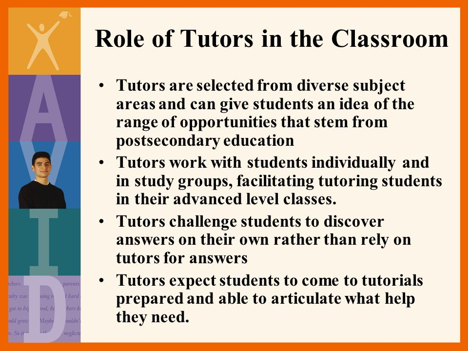 Role of Tutors in the Classroom