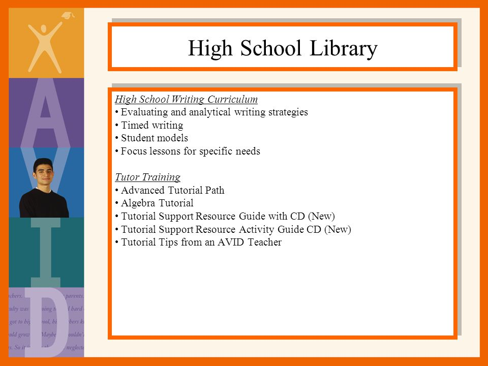 High School Library High School Writing Curriculum