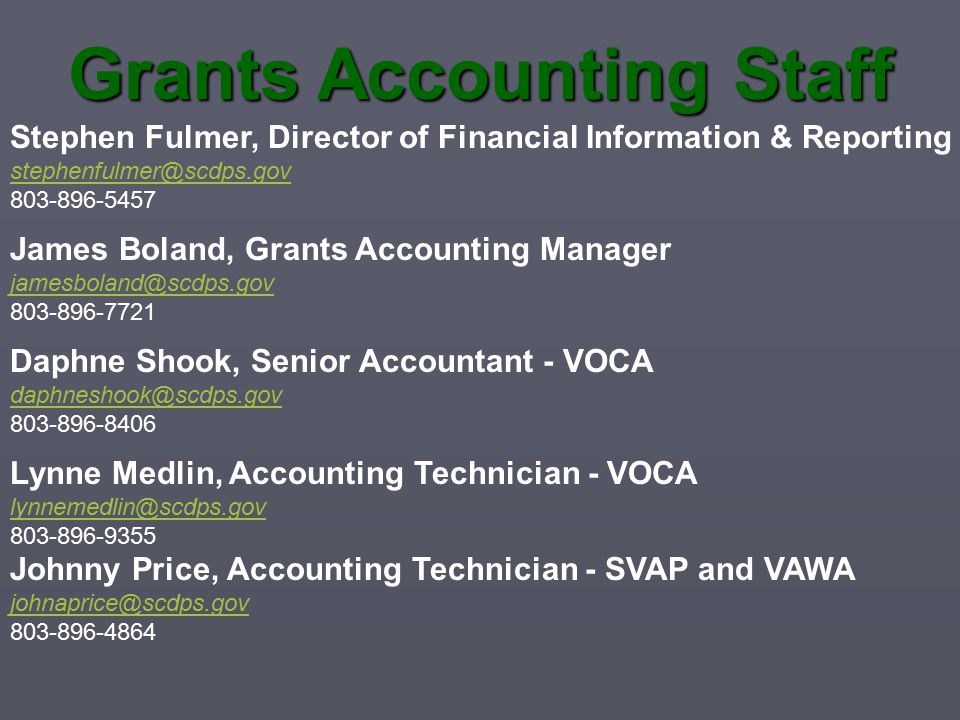 Grants Accounting Staff