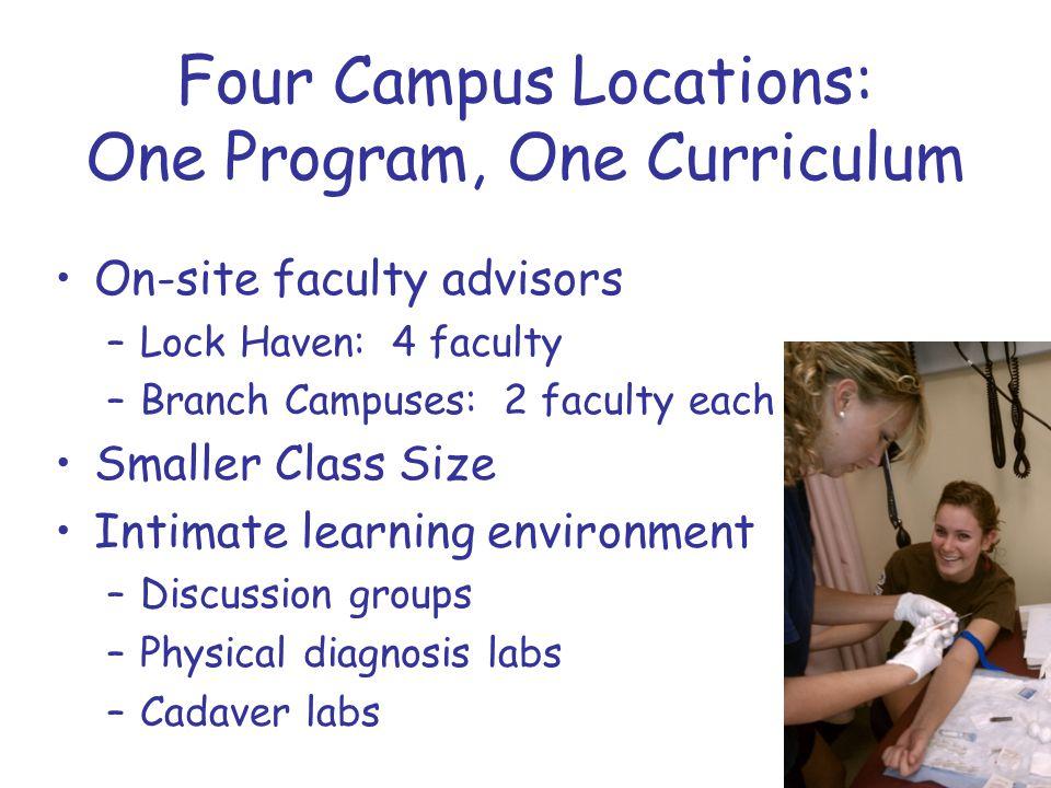 Four Campus Locations: One Program, One Curriculum