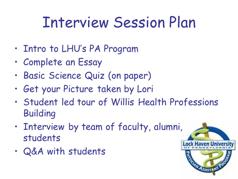Interview Session Plan