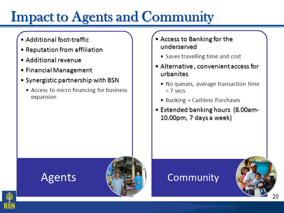 Impact to Agents and Community