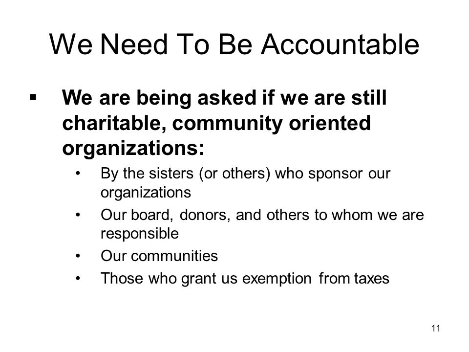 We Need To Be Accountable