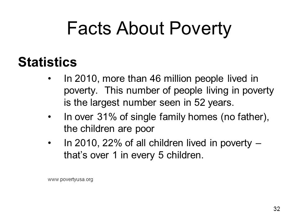 Facts About Poverty Statistics