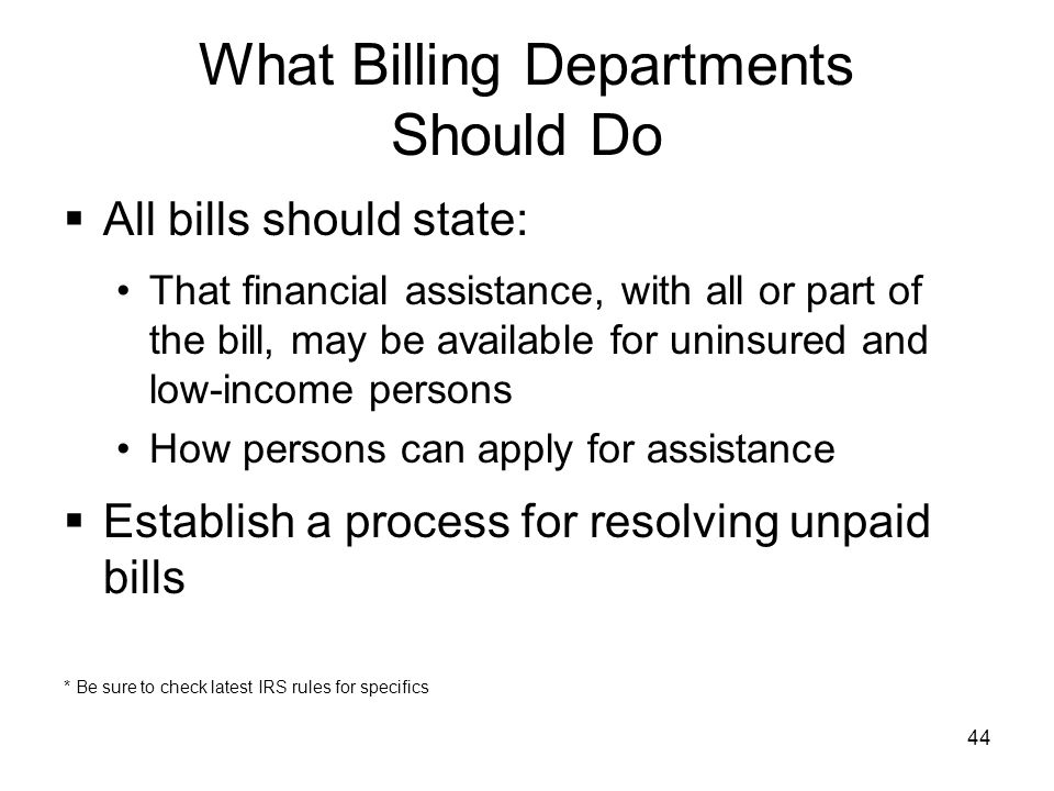 What Billing Departments Should Do