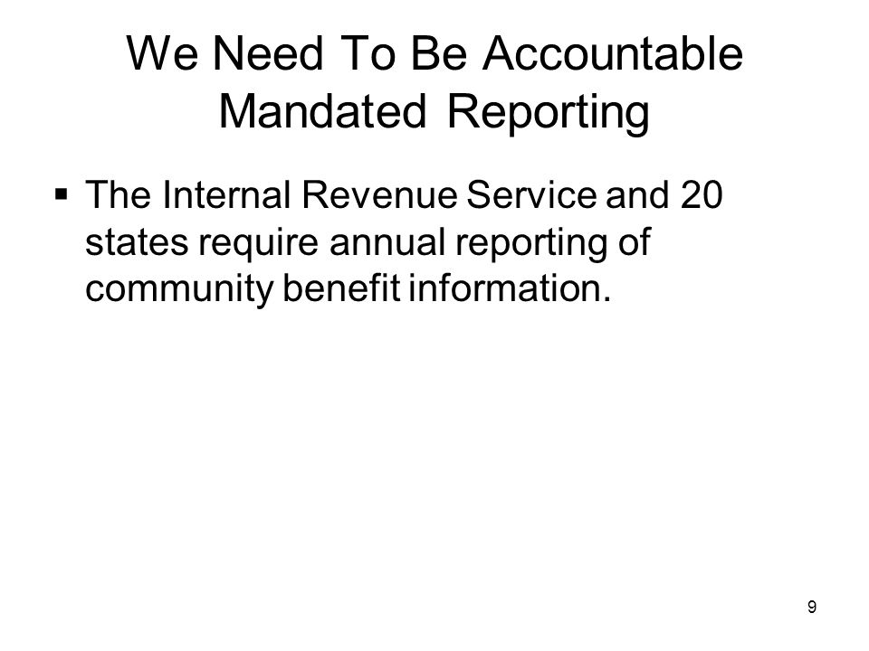 We Need To Be Accountable Mandated Reporting