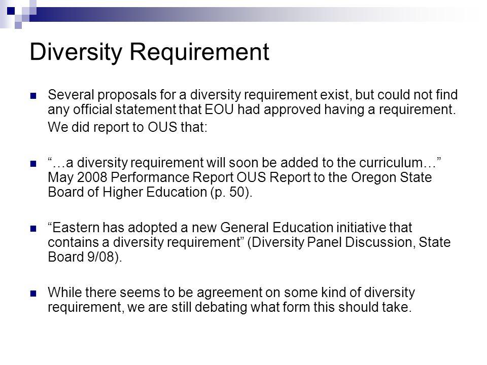 Diversity Requirement