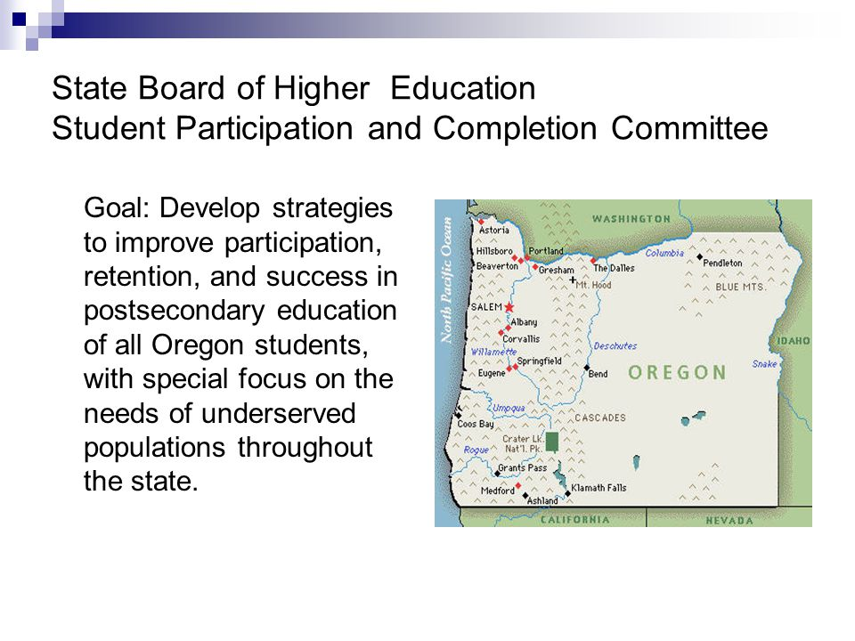 State Board of Higher Education Student Participation and Completion Committee