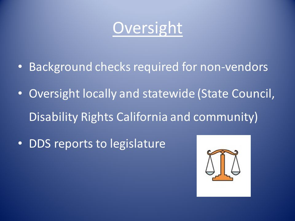 Oversight Background checks required for non-vendors