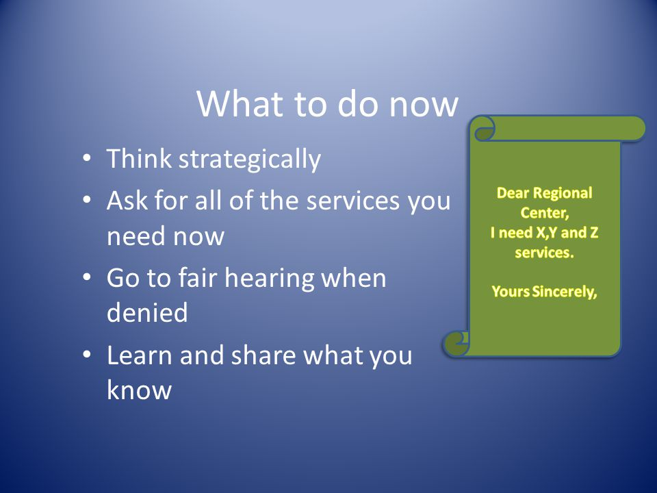 What to do now Think strategically