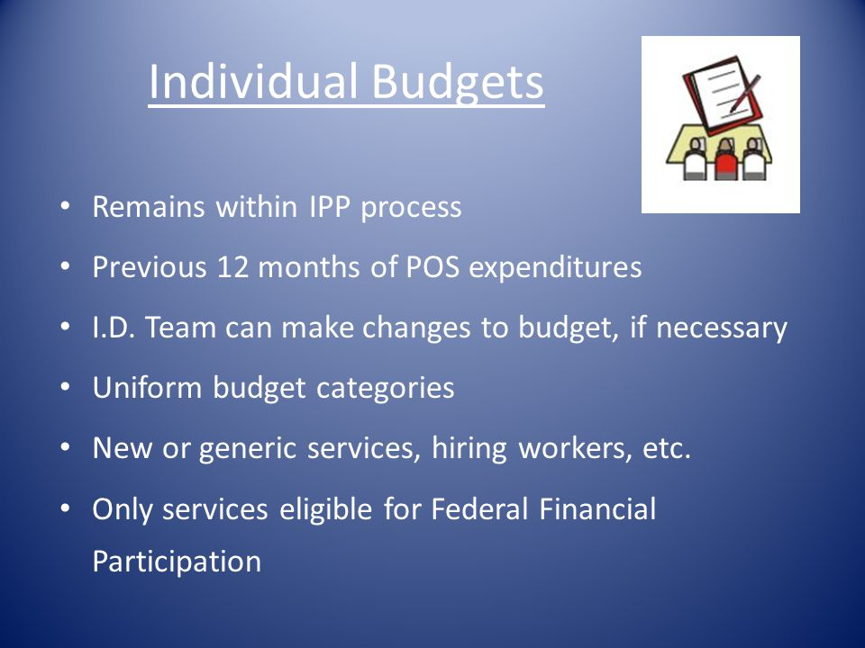 Individual Budgets Remains within IPP process