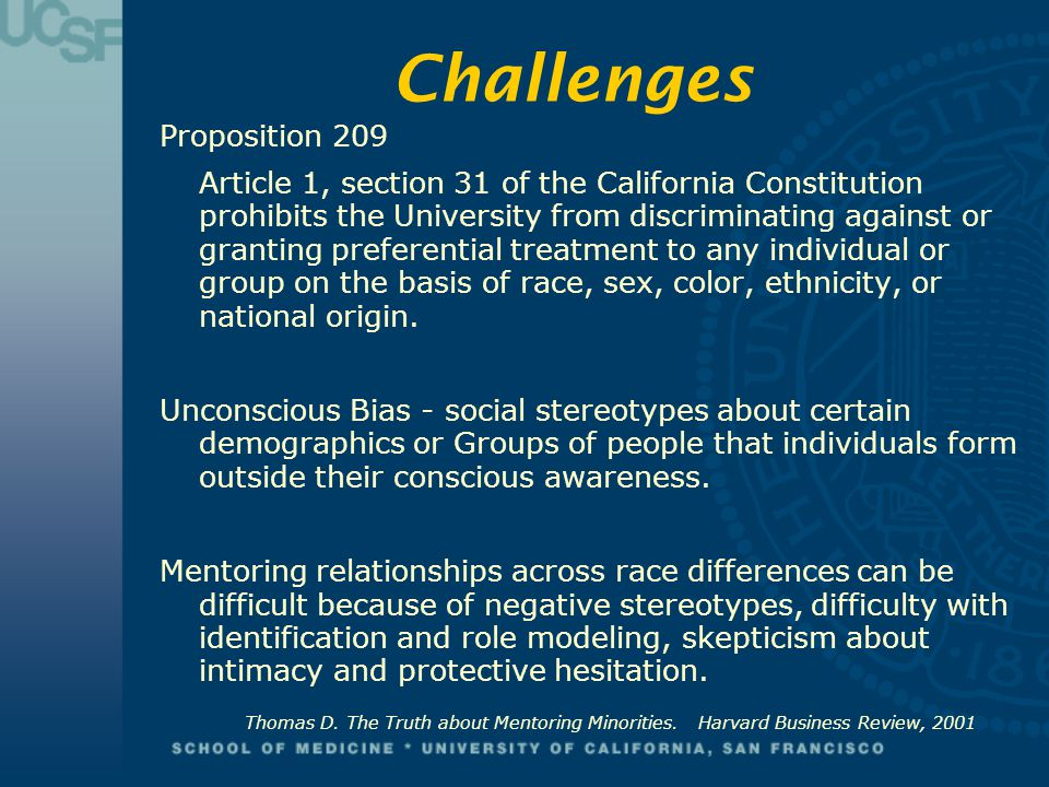 Challenges Proposition 209