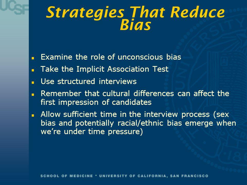 Strategies That Reduce Bias