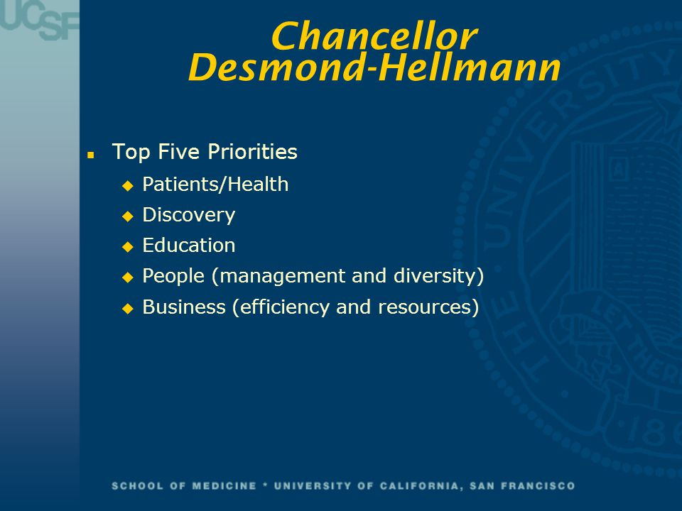 Chancellor Desmond-Hellmann
